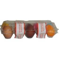 Etykiety na jajka 42x166 wytłaczanki nadruk plomba