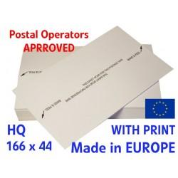 Etykiety paski do frankownic 166x44 1000 szt. Podwójne