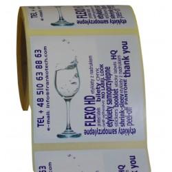 Etykiety z nadrukiem 100 x 100 mm folia PE na HDPE