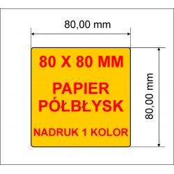 Etykiety z nadrukiem 80x80 1 kolor 10.000