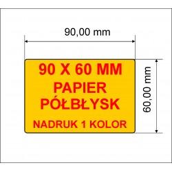 Etykiety z nadrukiem 90x60 1 kolor 10.000