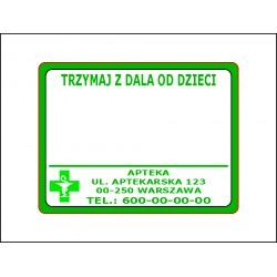 Etykiety dla Aptek 58x44 1 kolor 10.000