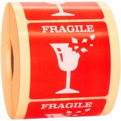 Etykiety FRAGILE ostrożnie szkło 1000