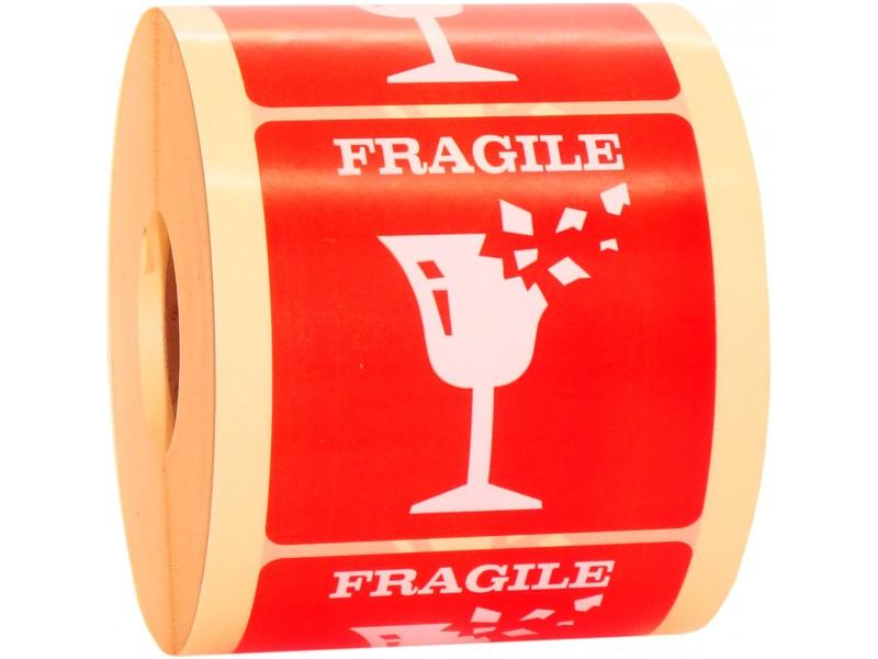 Naklejki FRAGILE nie rzucać na przesyłki