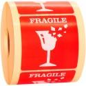 Naklejki FRAGILE nie rzucać na przesyłki 1000 szt.